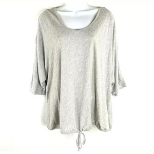 Lane Bryant Silver Striped Gray Batwing Top Tie 22